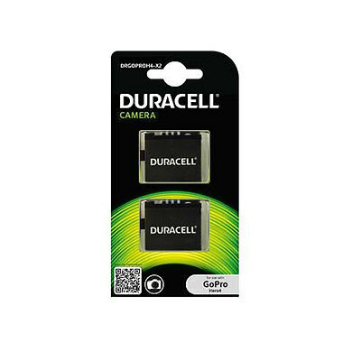 Duracell GoPro Hero 4 Replacement Battery Twin Pack DRGOPROH4-X2 New Uk