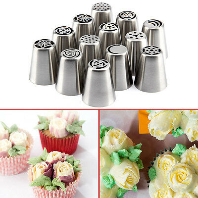 13X Russian Tulip Icing Piping Nozzle Stainless Tips Flower Cake Decorating Tool
