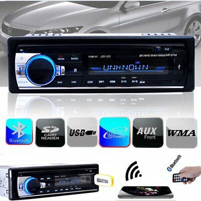 Bluetooth Car Stereo Audio 1 DIN In-Dash FM Aux Input Receiver USB MP3 Radio USA