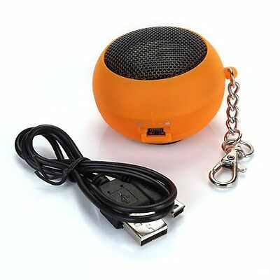 10x(Electrical/orange DK - 601 Mini speaker with key chain and data cables L3
