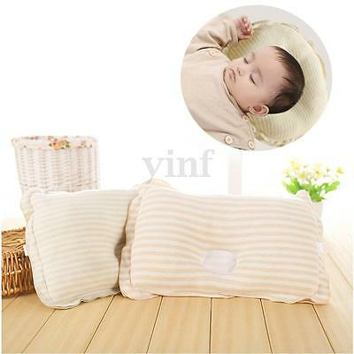Baby Toddler Infant Soft Pillow Bedding Support Anti Flat Sleep Cotton Cushion