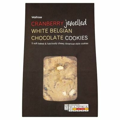 Cookies Cranberry & White Chocolate Waitrose 5 per pack