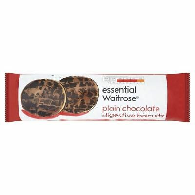 Plain Chocolate Digestive Biscuits essential Waitrose 400g