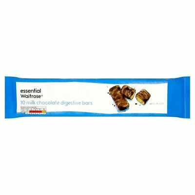 Milk Chocolate Digestive Bars essential Waitrose 10 x 25g