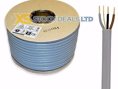 1mm 3 Core & Earth Electrical Wire Cable New Colours 100M Metres Lighting 6243Y