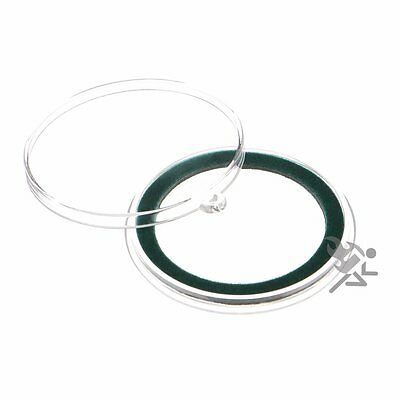 Air-Tite 39mm Green Velour Ring Coin Capsule Holders with Loop Holders, 10 Pack