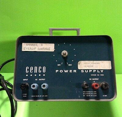 Cenco Power Supply Cat. No. 79553 -Used