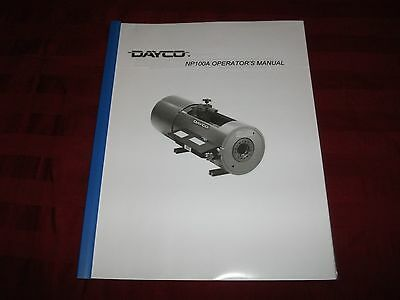Dayco NP100A Hydraulic Hose Crimper Machine Operators Instruction Manual