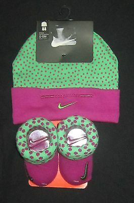 Nike Infant Baby Girl Hat and Booties 0-6 months