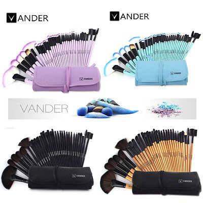 Vander 10/32pc Professional MakeUp Brushes Set Foundation Face Cosmetic Tool