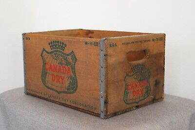 """Canada Dry Soda Crate - Vintage Soda Crate 9"""" and 12"""" height options"""