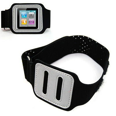 10x(Black Armband Case Protector Armband Cover for Apple Apple iPOD Nano 6th L3