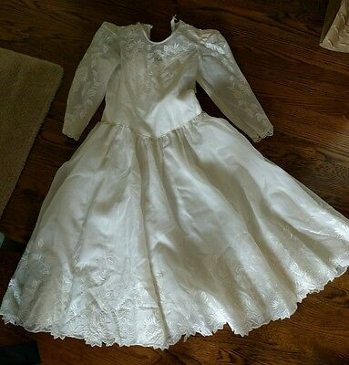 1950's wedding dress white formal tea vintage lace 50's 60's fifties prom