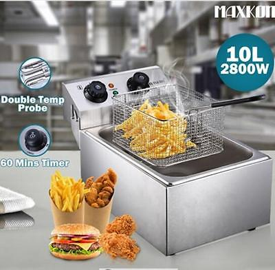 10L 2800W Power Saving Stainless Steel Auto Deep Fryer with Temperature Control