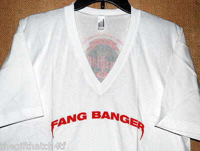 RARE True Blood HBO FANG BANGER T-Shirt Paquin Vampire Sookie COMIC CON SDCC NEW