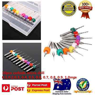 10PCS Set Carbide Micro Mini Drill Bit Tungsten Steel Dremel Rotary Tools