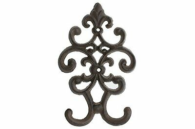Cast Iron Vintage Double Wall Hook Decorative Wall Mounted Coat Hanger And, New