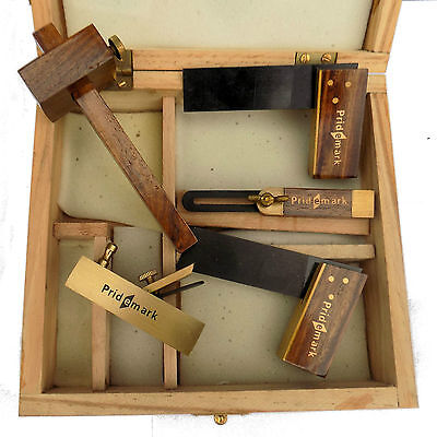 Carpenters Woodworking Set Mini Set Block Plane Square Bevel Marking Gauge 29b
