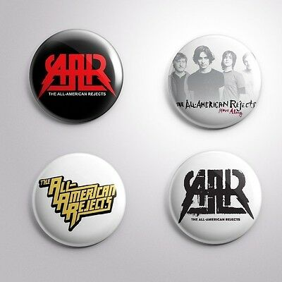 4 ALL-AMERICAN REJECTS - Pinbacks Badge Button 25mm 1''