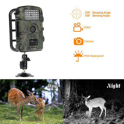 RD1001 Wildlife LED Animal Trap Trail Hunting Scouting 12MP HD Game Camera Cam