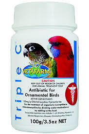 Triple C Antibiotics 100grms (Use for aviary and chicken respiratory infections)