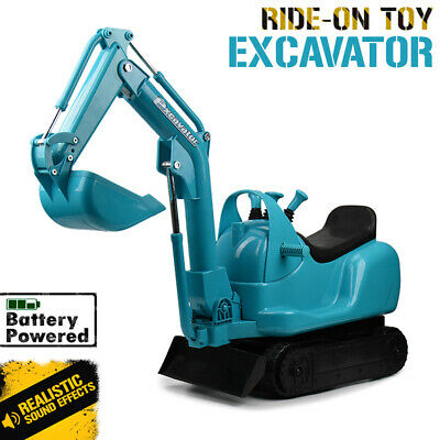 Kids Ride on Toy Excavator - Battery operated power digger with realistic sounds