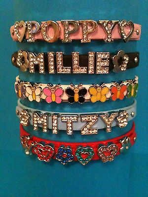 Personalised Dog / Pet Collars Diamante / Rhinestone / Bling. UK SELLER