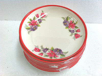 Set of 10 pcs Melamine Dining Round Plate - Flower Design 20 cm Diameter - #DS08