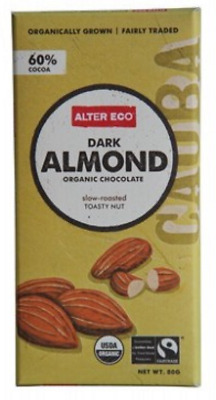 New ALTER ECO Dark Almond 80g - Organic Chocolate
