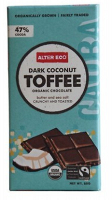 New ALTER ECO Dark Coconut Toffee 80g - Organic Chocolate
