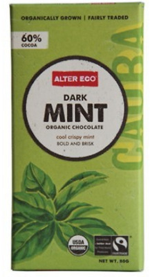 New ALTER ECO Dark Mint 80g - Organic Chocolate