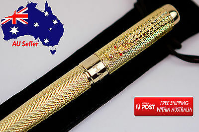 Parker/waterman Style Dragon Clip Roller Ball Luxury Gold Pen, High Quality!