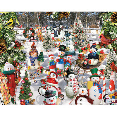 "Jigsaw Puzzle 1000 Pieces 24""X30"" Snowmen WM564"