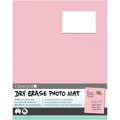 "Dry Erase 8""X10"" Photo Mat Holds 2""X3"" Photo Pink 12-3-302"