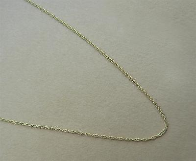 "9ct gold fine rope chain -  16"" (41cm) or 18"" (46cm) long suitable for pendant"