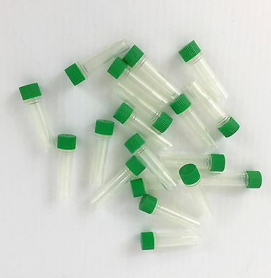50/pk, 1.5 ml Micro Skirted Tubes/Vials/Containers w/Screw Cap, free shipping