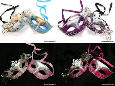 Quinceanera Masquerade ball mask Turquoise Fuchsia Pink Sweet Birthday Party