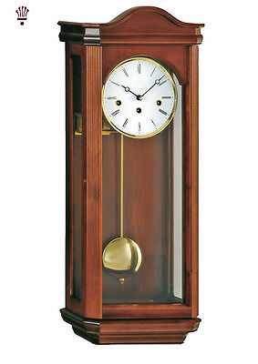 BilliB Norton Mechanical Wall Clock with Westminster Chime in Walnut