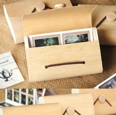 2* WoodenPhoto Album Box Case For Fujifilm Instax Polaroid Mini 8 90 70 25 Film