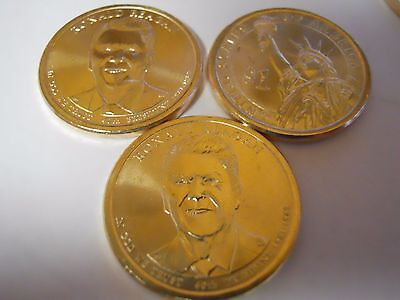 3 Coins: 2016 (1P& 2D) Ronald Reagan Presidential Dollars From US Mint Roll. UNC