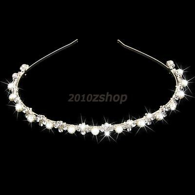 Cerchietto Strass Perla Acconciatura Sposa Diadema Hairband Cerimonia Matrimonio