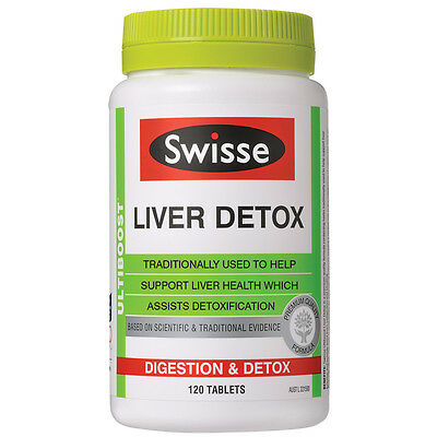 Swisse Ultiboost Liver Detox Digestion Support Indigestion Bloating 120 Tablets