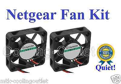 New! Quiet Version Netgear GSM7224 FAN Kit, 2x new fans for GSM 7224