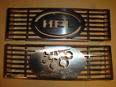 Suzuki Bandit 600 / 650 & Others Stainless Steel Oil Cooler / Radiator Cover New