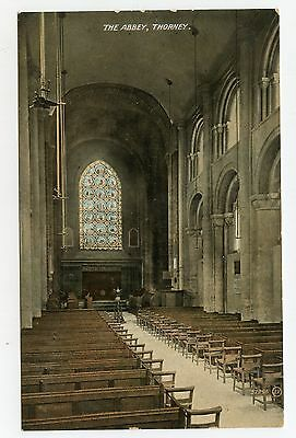 Vintage postcard The Abbey, Thorney, Peterborough, Cambs. Valentine's. Unposted