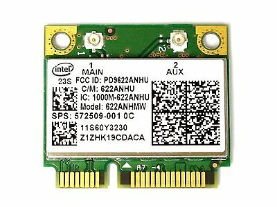 HP intel 622ANHMW 6200 6200agn wireless card  sps:572509-001  300M