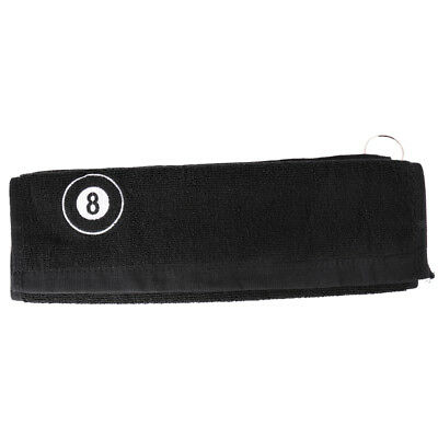 Portable 8-Ball Snooker Pool Billiard Sports Cotton Towel & Metal Clip Hook