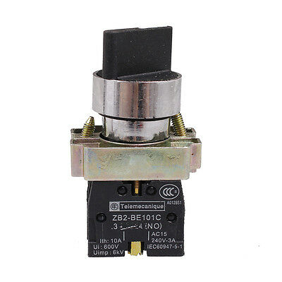 XB2BD45C 1NO 1NC 2 Positions Momentary Select Selector Switches 22mm Mount