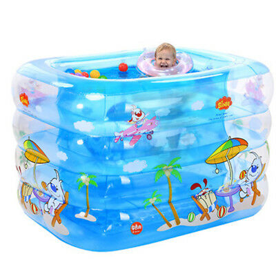 Inflatable Children Swimming Pool Indoor Outdoor Baby Bathing Tub Air Floating