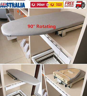 Pull Out Slide Out Rotary Ironing Board Carbinet Drawer Mounted Convenient Style